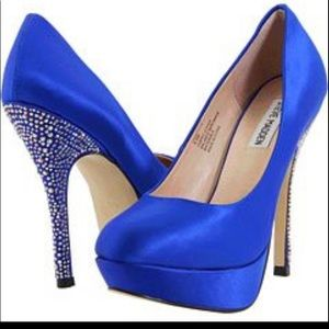 Royal blue studded heel -PARTYY HEEL